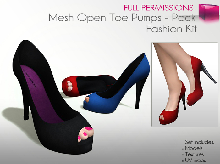 Mesh Open Toes Pack