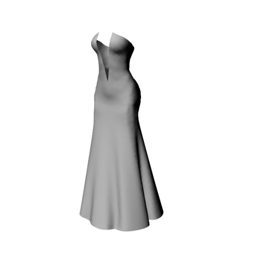 MeliComingsoon-V cut Strapless Gown Dress
