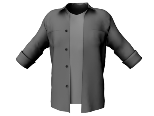 Coming soon _Coming soon - Mens Open Front Shirt W Tshirt Under color
