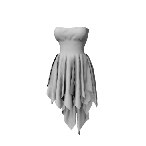 Coming soon - Chiffon Strapless Cocktail Dress with Draped Frills mlc