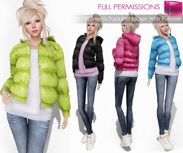 AD_Womens_Padded_Jacket_With_Pullover