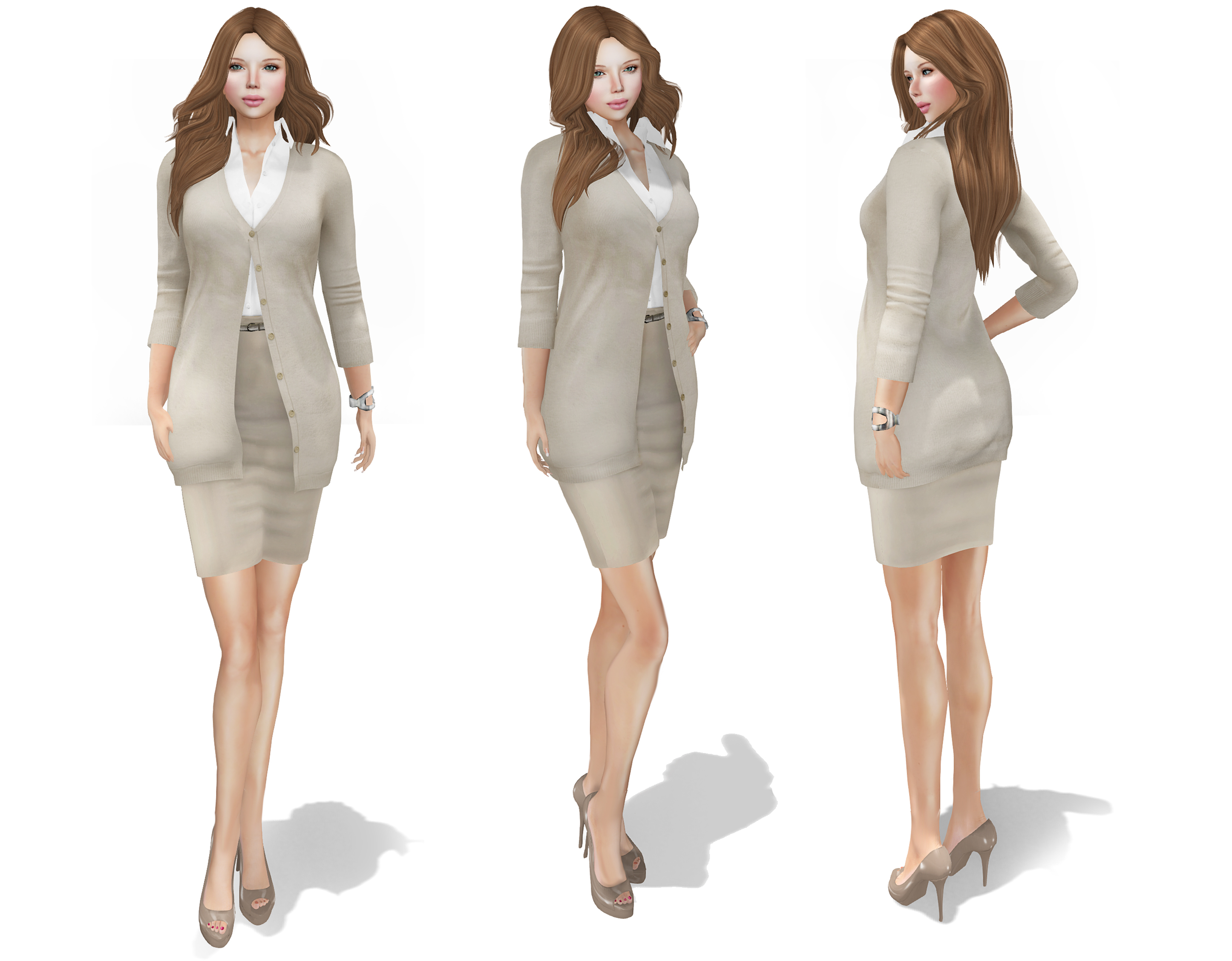 HR Womens Business Cardigan Outfit