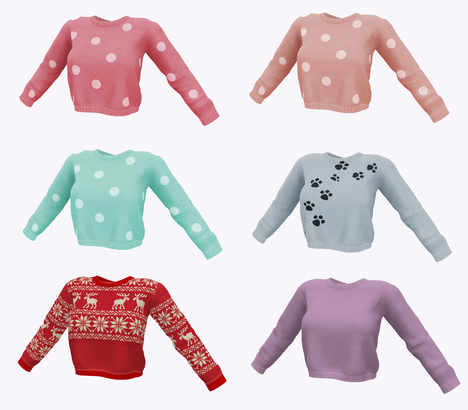 Ladies Knitted Sweater 1