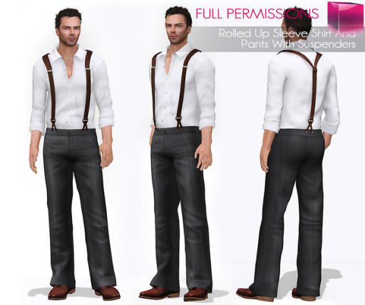 AD_Mens_Rolled_Up_Sleeve_Shirt_And_Pants_With_Suspenders