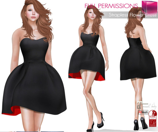 AD_Strapless_Flower_Dress_Fitmesh