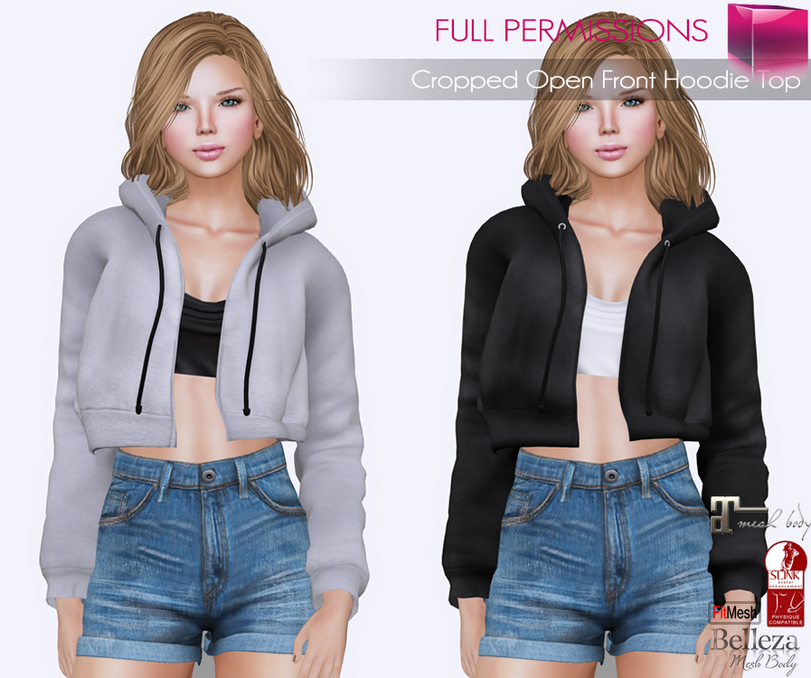AD Fitmesh_MI Cropped Open Front Hoodie Top