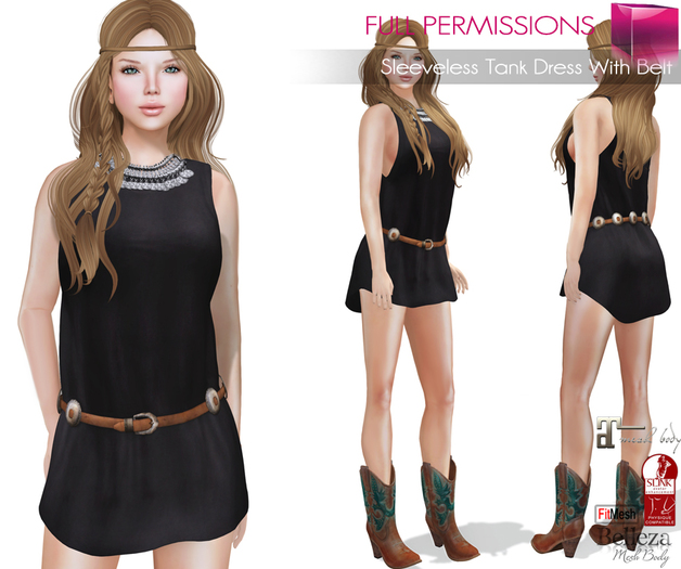 AD_Sleeveless_Tank_Dress_With_Belt_Fitmesh