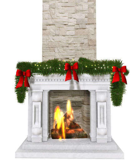 Fireplace_With_Xmas_Wreath_1