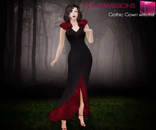 AD_Gothic Gown with Fur