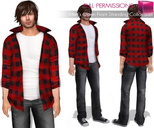 AD_Mens_Open_Front_Standing_Collar_Shirt