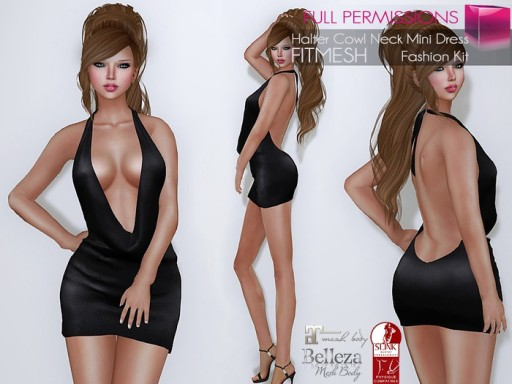 MP_Main_Cowl_Halter_mini_dress_Fitmesh