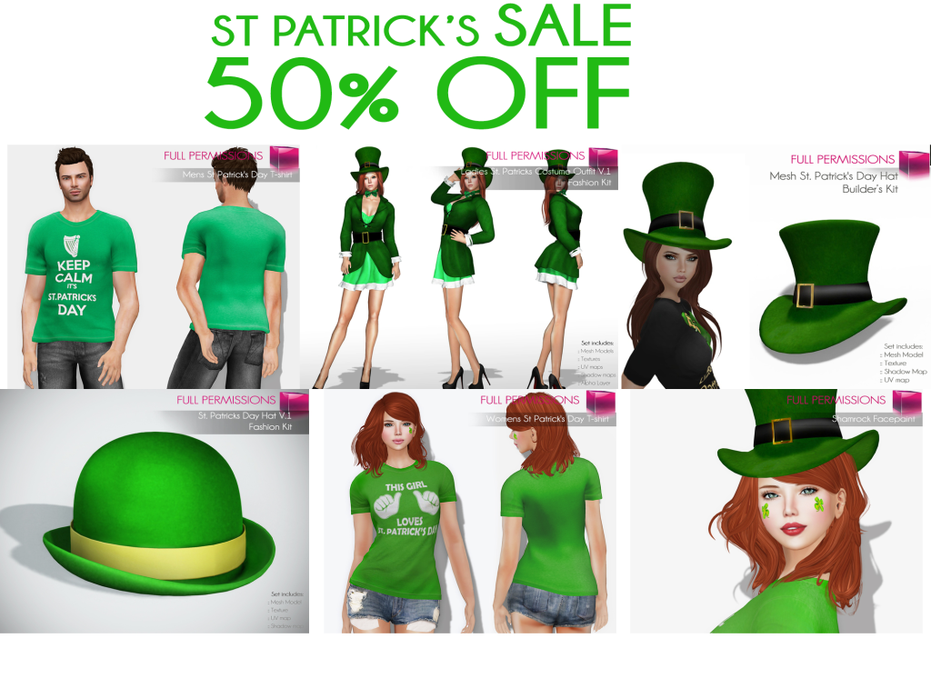 St Patricks Sale 50 off image