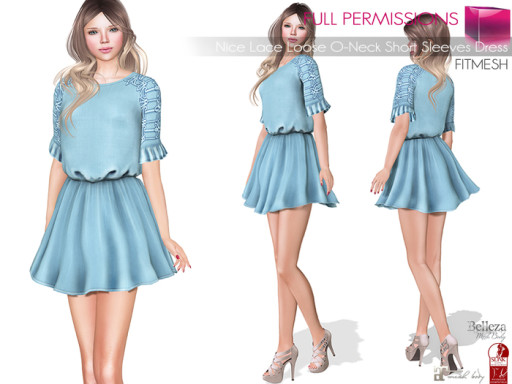 MKT_Nice_Lace_Loose_O-Neck_Short_Sleeves_Dress_Fitmesh