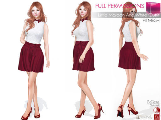 MKT_Maroon___White_Outfit_Fitmesh