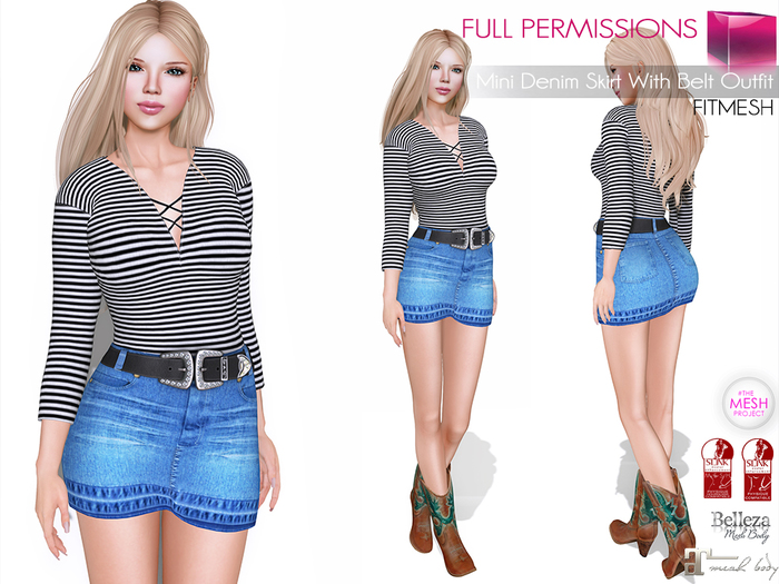 MKT_Mini_Denim_Skirt_With_Belt_Outfit_Fitmesh