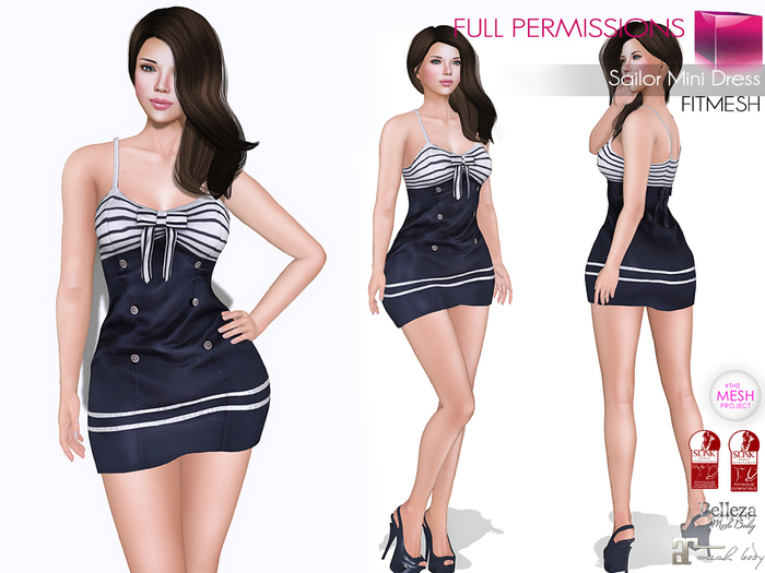 MKT_Sailor_Mini_Dress_Fitmesh