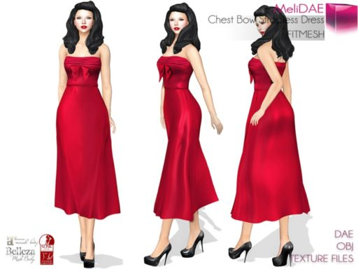 mp_main_melidae_chest_bow_strapless_dress